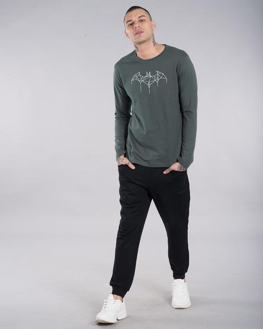 Shop Batman Line Full Sleeve T-Shirt (GID) (BML)-Full