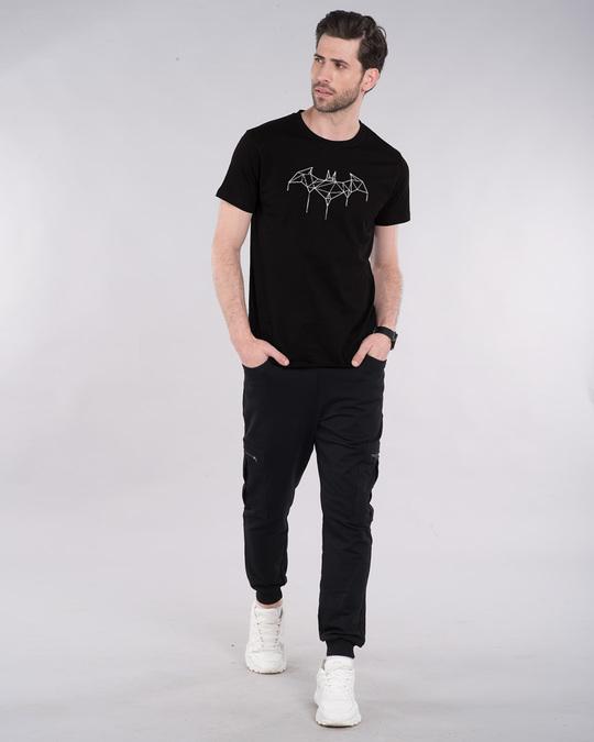 Shop Batman Line Glow In Dark Half Sleeve T-Shirt  (BML)-Full