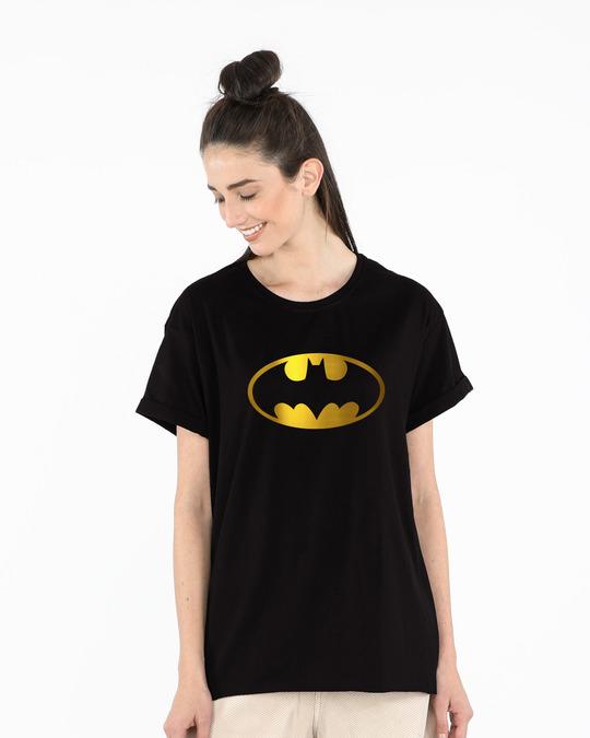 DC Comics Damen Batman Logo Boyfriend Fit T-Shirt