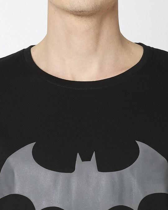 Shop Batman Logo Half Sleeves T-Shirt (BML)
