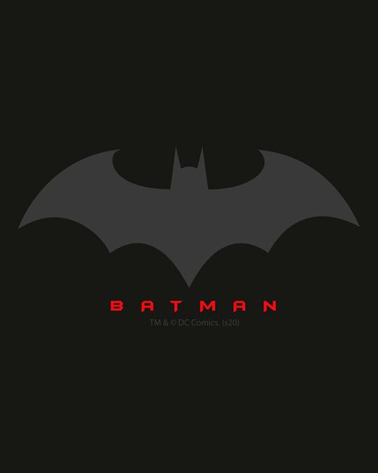 Shop Batman Outline Fleece Sweater-Full