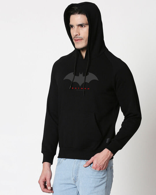 Shop Batman Outline Hoodie Sweatshirt-Back