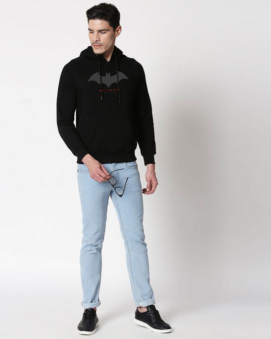 Shop Batman Outline Hoodie Sweatshirt-Full