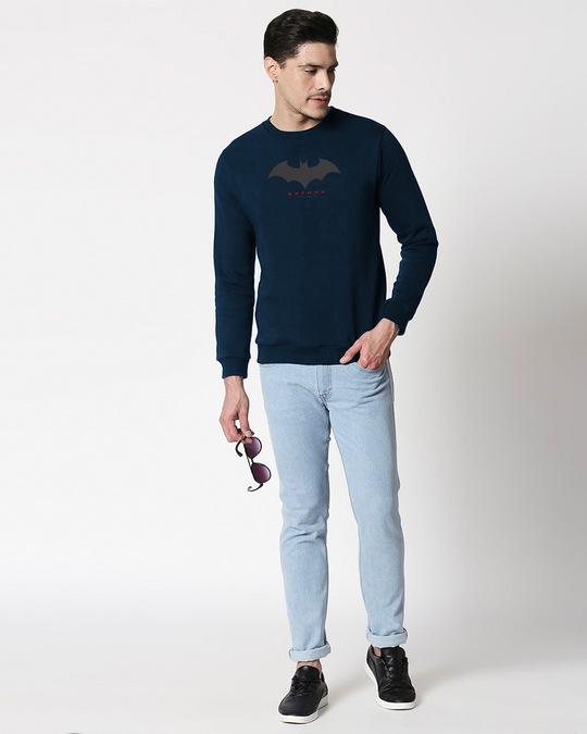 Shop Batman Outline Logo Fleece Sweater (BML)-Design