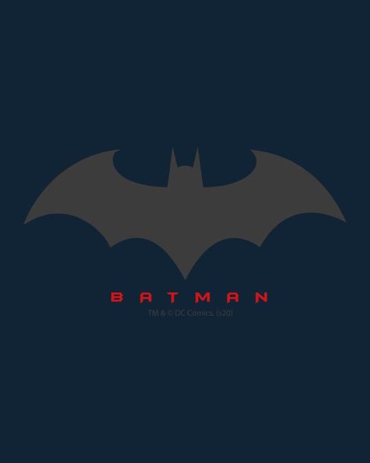Shop Batman Outline Logo Fleece Sweater (BML)-Full