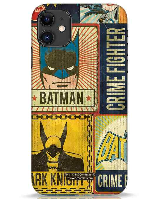 Shop Batman Vintage iPhone 11 Mobile Cover (BML)-Front