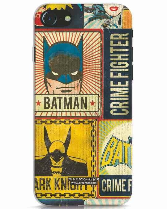 Shop Batman Vintage iPhone 8 Mobile Cover (BML)-Front