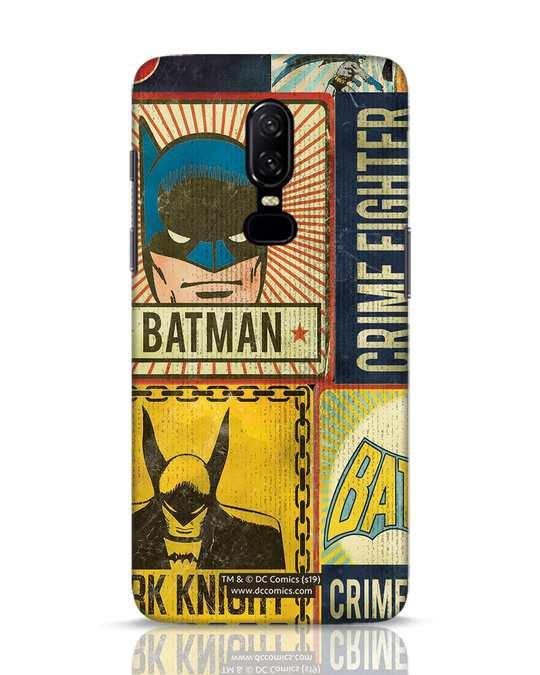 Shop Batman Vintage OnePlus 6 Mobile Cover (BML)-Front