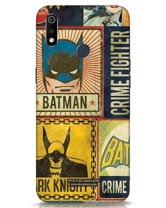 Shop Batman Vintage Realme 3i Mobile Cover (BML)-Front