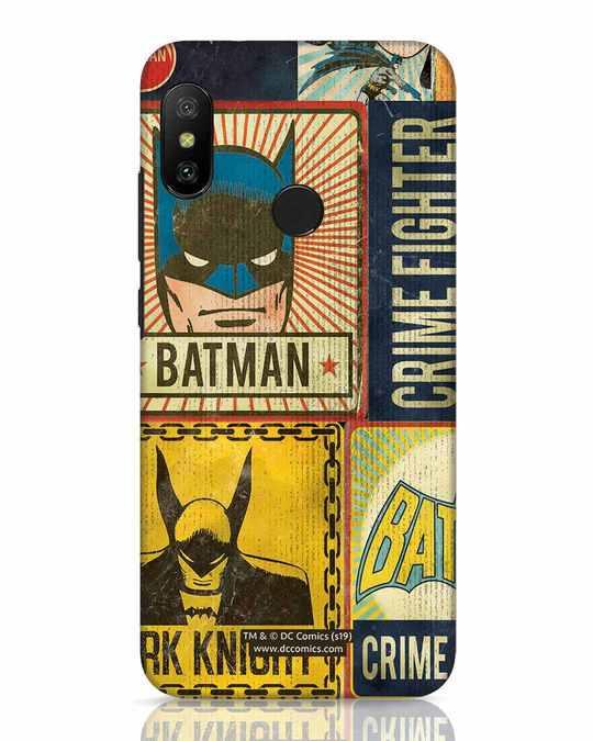 Shop Batman Vintage Xiaomi Redmi 6 Pro Mobile Cover (BML)-Front