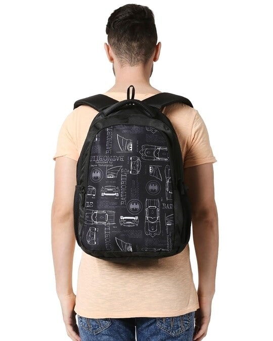 Shop Batmobile Lineart Printed 23 Litre Backpack-Full