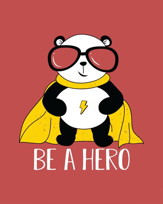 Shop Be A Hero Panda Full Sleeve T-Shirt