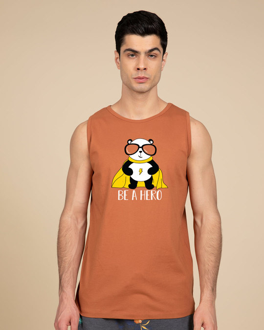 Shop Be A Hero Panda Vest-Front