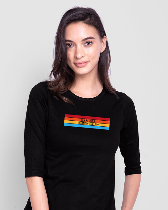 Shop Be A Rainbow  3/4th Sleeve T-Shirt-Front