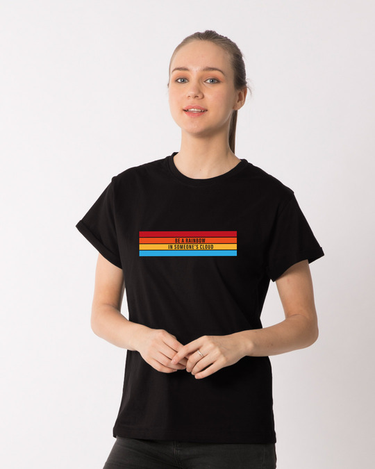 Shop Be A Rainbow Boyfriend T-Shirt-Front