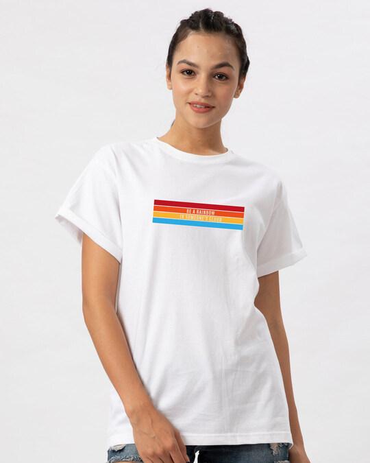 Shop Be A Rainbow Boyfriend T-Shirt-Front