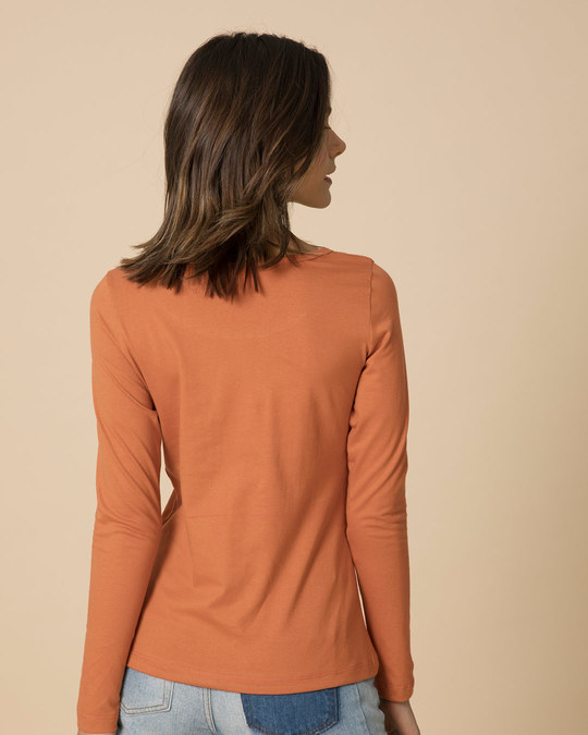 Shop Be Beautiful Scoop Neck Full Sleeve T-Shirt-Back
