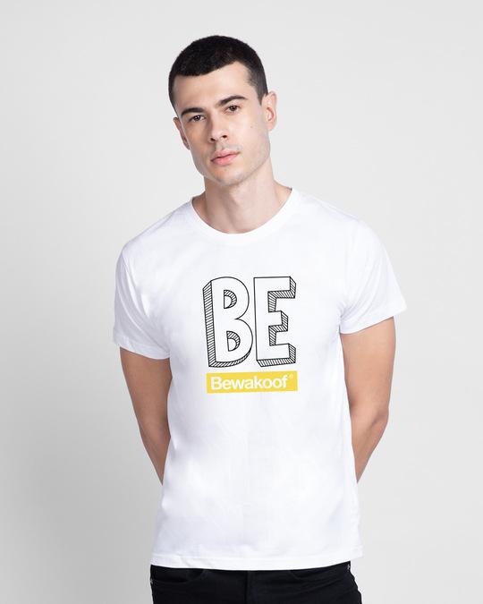 Shop Be  Logo Half Sleeve T Shirt-Front
