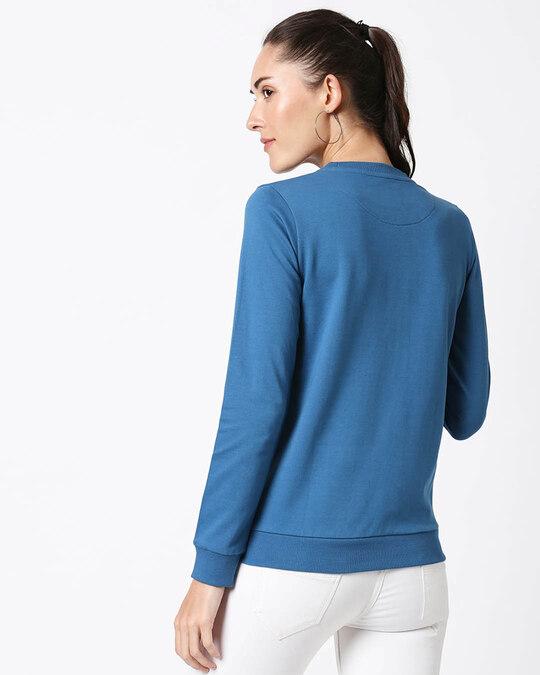 Shop Be Brave Be Strong Fleece Sweater AW19 (DL) Digital Teal -Design
