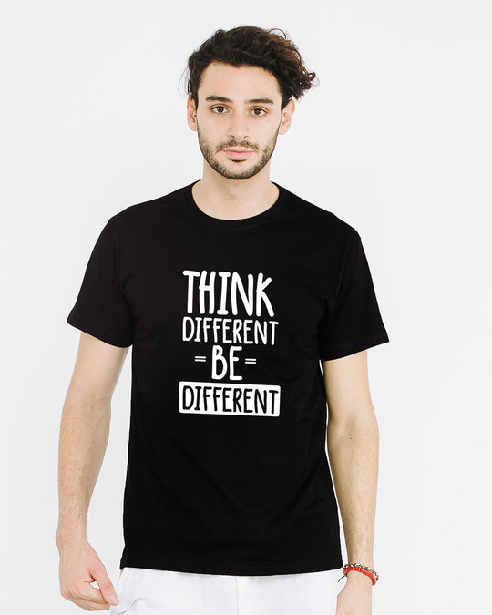 Shop Be Different Half Sleeve T-Shirt-Back