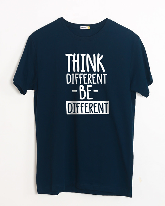 Shop Be Different Half Sleeve T-Shirt-Front