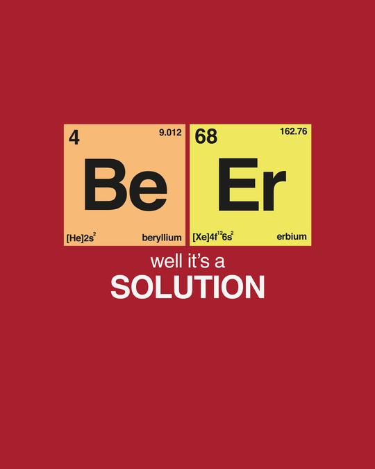 Shop Be-Er Solution Half Sleeve T-Shirt Bold Red