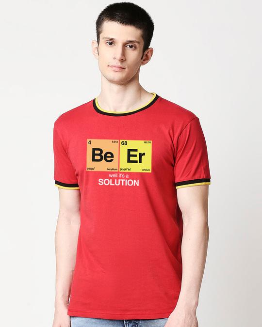 Shop Be-er Solution Varsity T-Shirt-Front