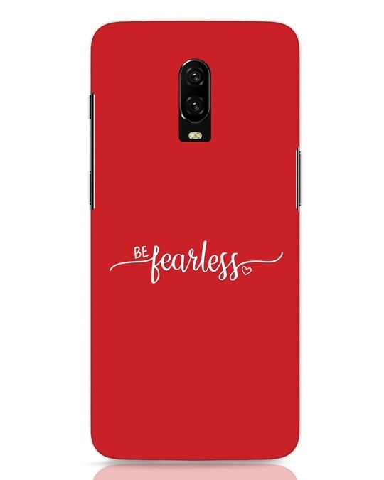 Shop Be Fearless OnePlus 6T Mobile Cover-Front