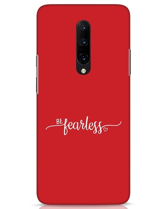 Shop Be Fearless OnePlus 7 Pro Mobile Cover-Front