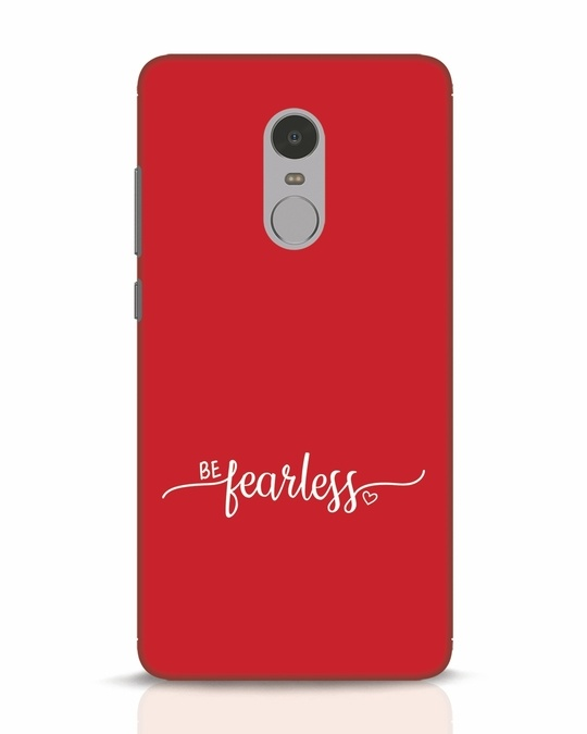Shop Be Fearless Xiaomi Redmi Note 4 Mobile Cover-Front