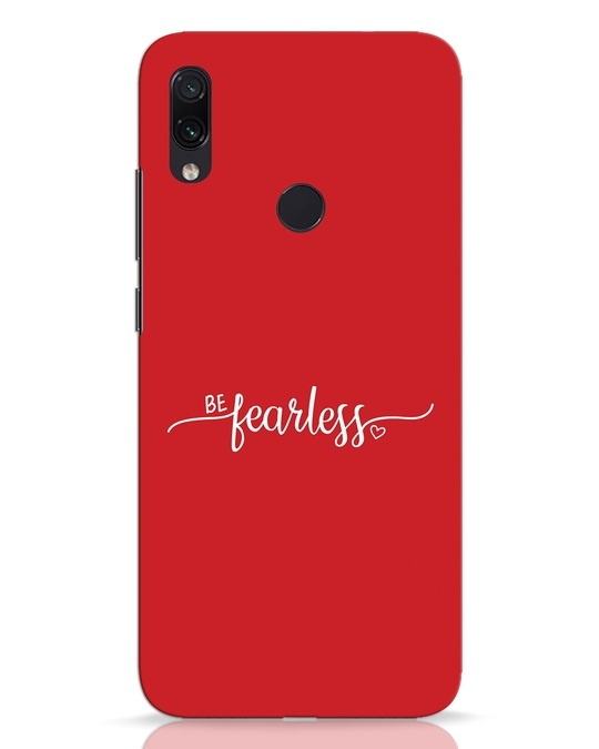 Shop Be Fearless Xiaomi Redmi Note 7 Pro Mobile Cover-Front
