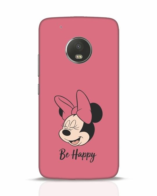 Shop Be Happy Moto G5 Plus Mobile Cover-Front