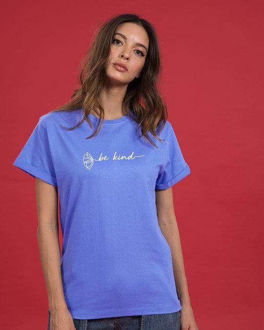 Shop Be Kind Flower Boyfriend T-Shirt-Back