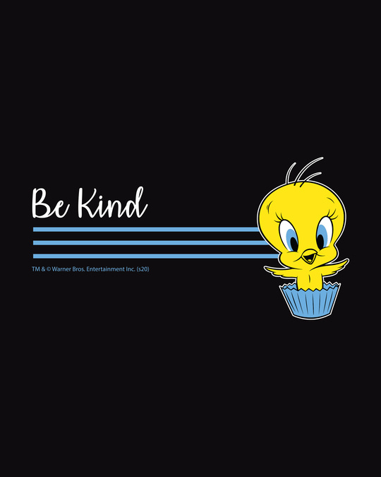 Shop Be Kind Tweety Round Neck 3/4th Sleeve T-Shirt (LTL)-Full