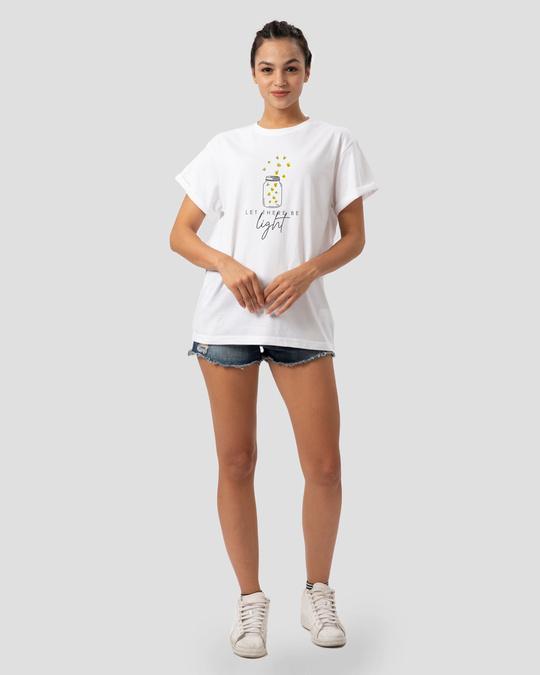Shop Be Light Boyfriend T-Shirt White-Design