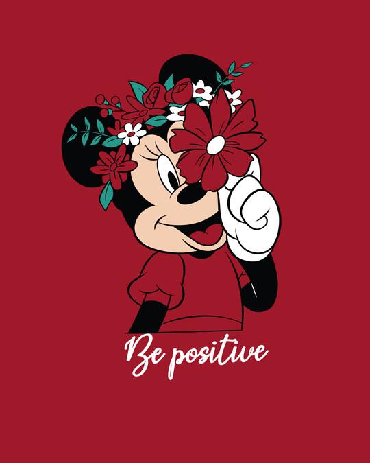 Shop Be Positive Minnie Boyfriend T-Shirt (DL) Bold Red-Full
