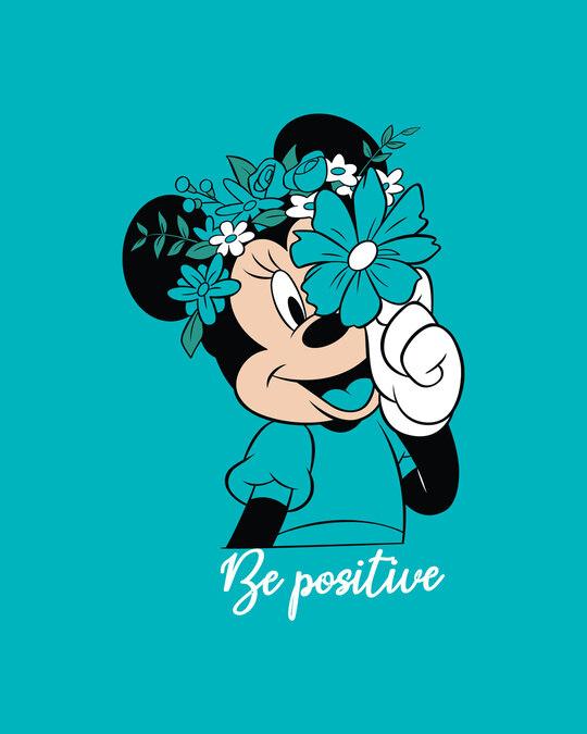 Shop Be Positive Minnie Boyfriend T-Shirt (DL) Tropical Blue-Full