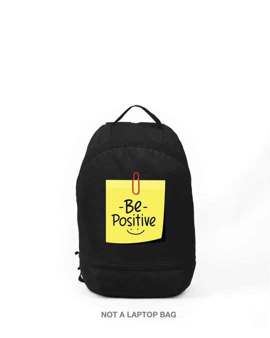 Shop Be Positive Printed Small Backpack-Front
