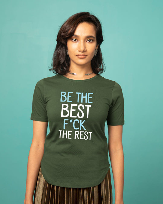 Shop Be The Best Basic Round Hem T-Shirt-Front