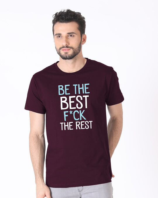 Shop Be The Best Half Sleeve T-Shirt-Back