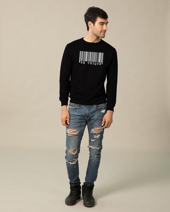 Shop Be Unique Barcode Glow In Dark Fleece Light Sweatshirt-Design