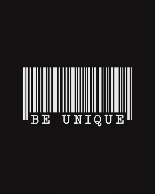 Shop Be Unique Barcode Glow In Dark Half Sleeve T-Shirt -Full