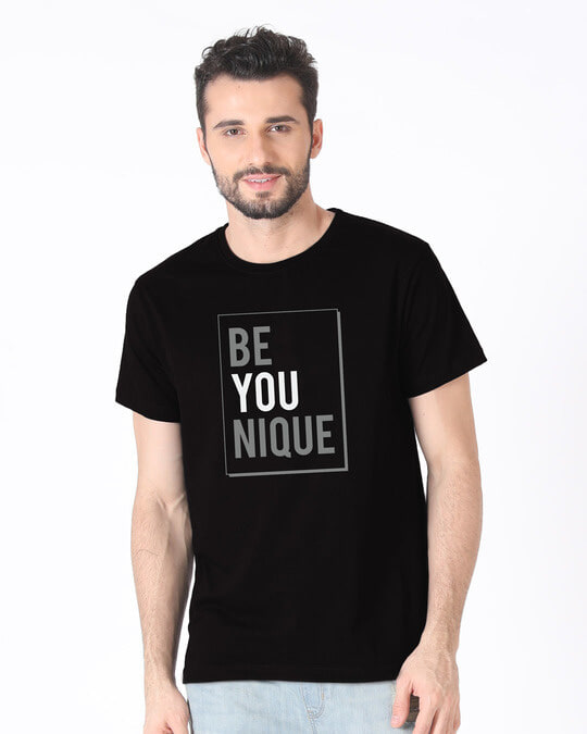 Shop Be Unique Half Sleeve T-Shirt-Back