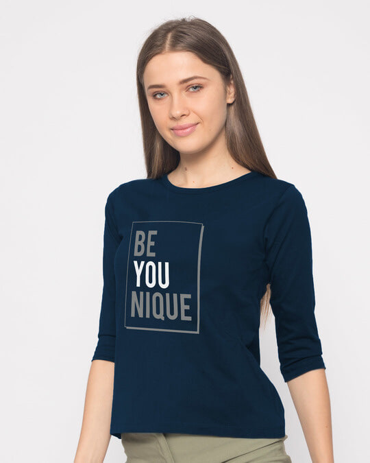 Shop Be Unique Round Neck 3/4th Sleeve T-Shirt-Back