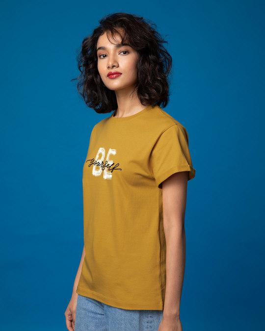 Shop Be Yourself Boyfriend T-Shirt-Back