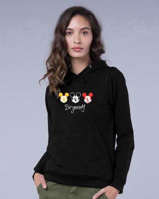 Shop Be Yourself Mickey Fleece Hoodie (DL)-Front