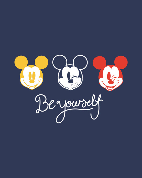 Shop Be Yourself Mickey Half Sleeve T-Shirt (DL)-Full