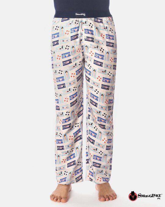 Shop Smugglerz Beach Pyjamas Beige-Front