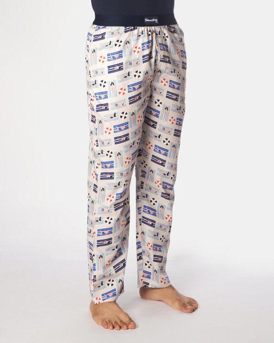 Shop Smugglerz Beach Pyjamas Beige-Back