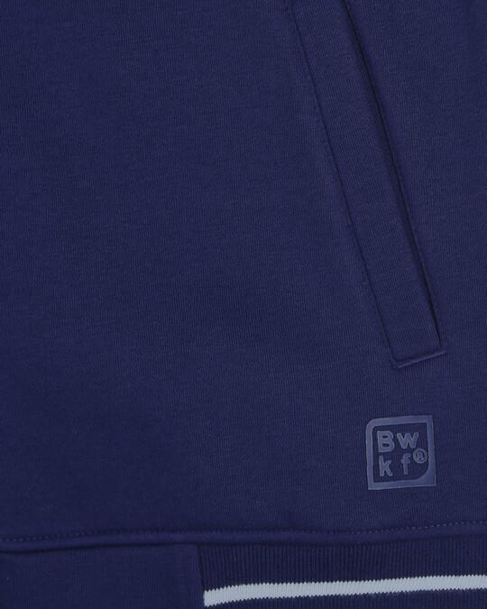 Shop Beacon Blue Varsity Bomber Jacket